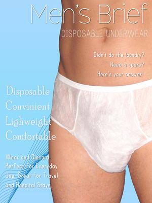 38bd0a5e0284 Underworks Mens Disposable Briefs 10-Pack, disposable underwear for men,  disposable boxers