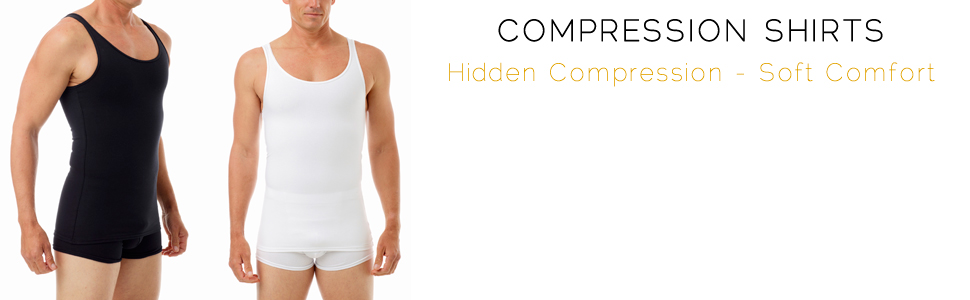 10f9c5bbbd Underworks Cotton Concealer Compression Tank Top. Wear it to workout or ...