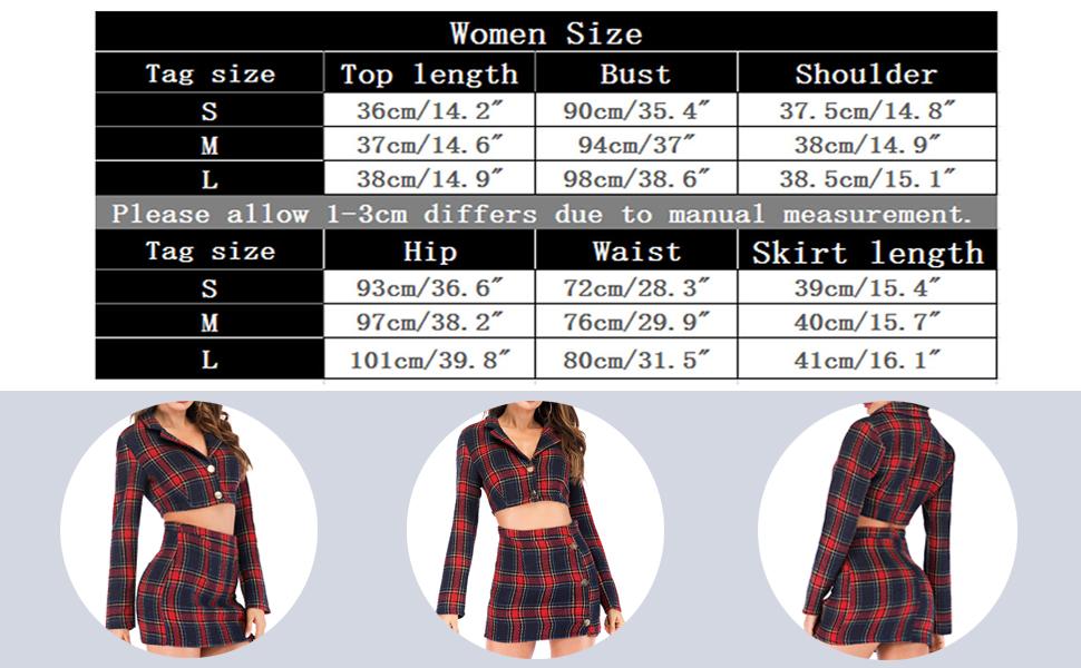 60ba358ecc1a Amazon.com: futurino Women's Long Sleeve Plaid Crop Top Bodycon Mini ...
