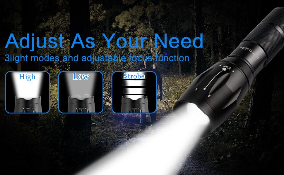 3 modes led flashlight