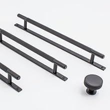 matte black hardware, cabinet knobs and pulls, decorative hardware