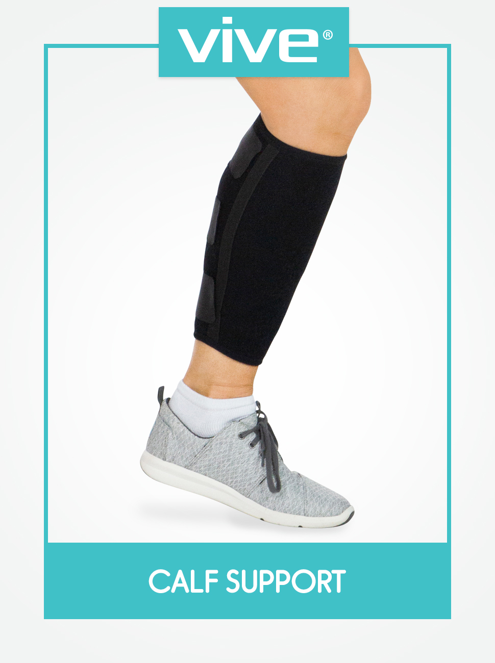Calf Brace - Adjustable Shin Splint Support - Lower Leg Compression Wrap Increases Circulation