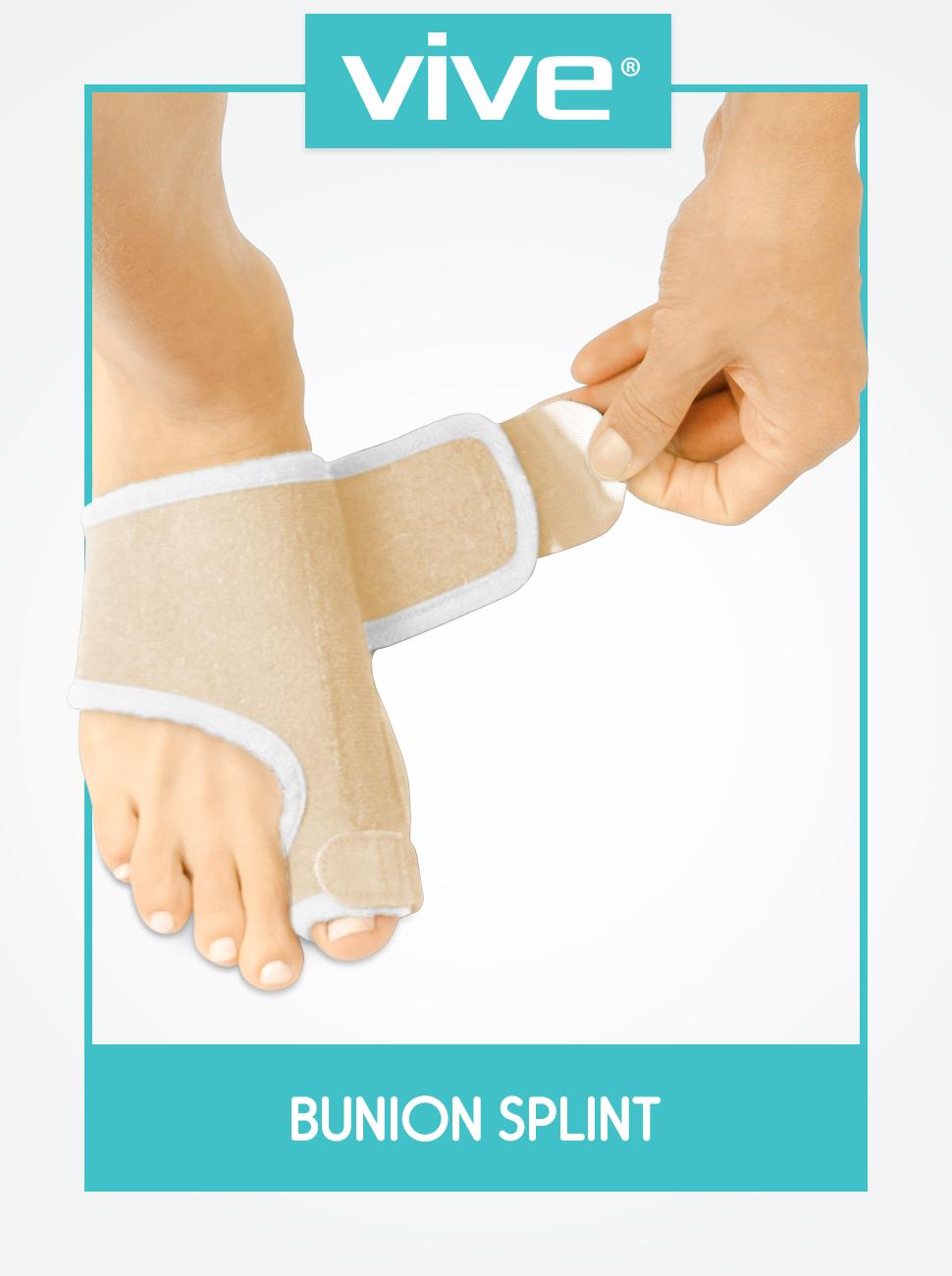 d8a12d0d Vive Bunion Splint (Pair) - Big Toe Straightener - Corrector Brace for  Hallux Valgus