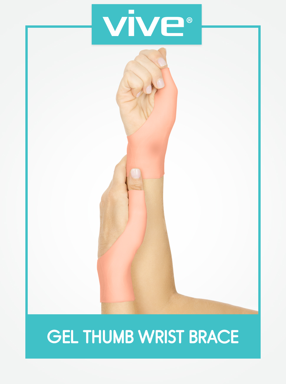 Gel Thumb Wrist Brace (Pair) - Spica Support Cool Wrap for Arthritis Dequervains Tenosynovitis