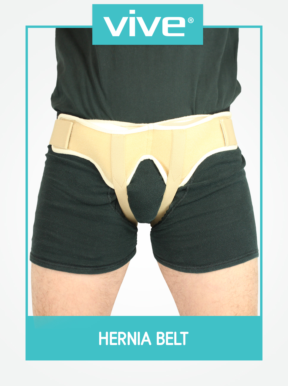 Vive Hernia Belt - Hernia Support Truss for Single/Double Inguinal or  Sports Hernia - Two Removable