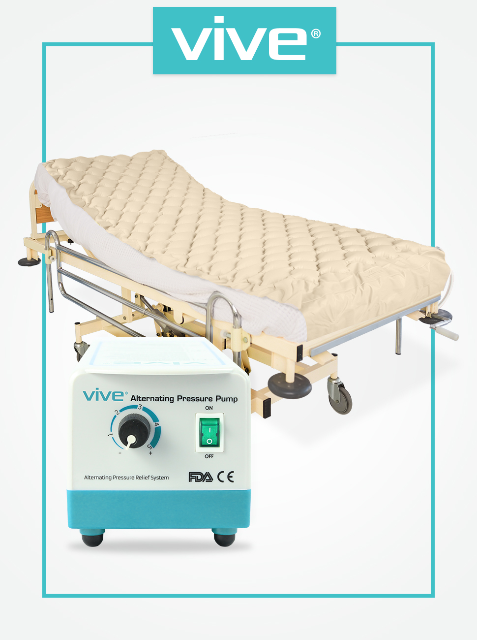 amazon com alternating pressure mattress by vive includes