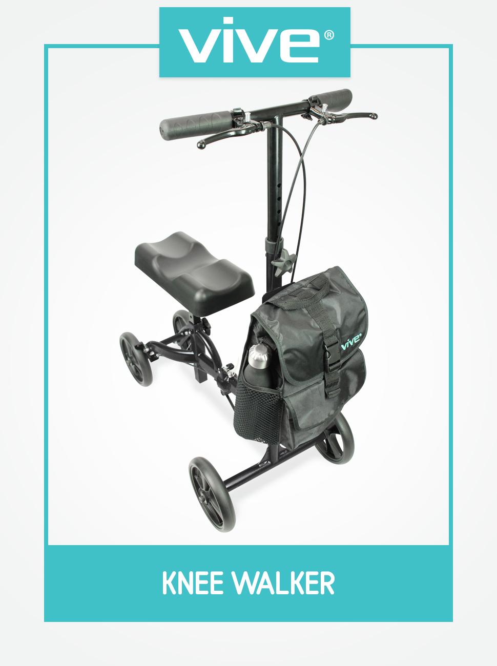 Amazon Com Vive Knee Walker Steerable Scooter For Broken Leg