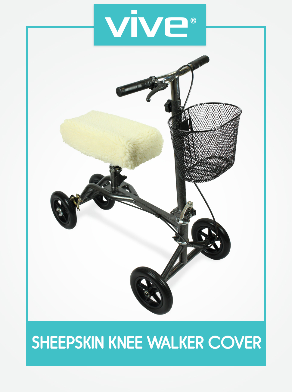 Amazon.com: Almohadilla para scooter de rodilla de Vive ...