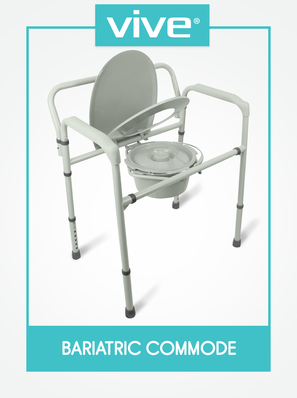 Bariatric Bedside Commode By Vive - 3 In 1 Toilet Chair - Extra Wide ...