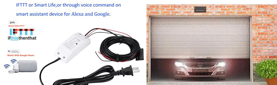 Smart Wi-Fi Alexa Garage Door Openers Remote  control Smart Phone Wireless Android iOS APP Alexa