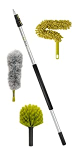 DocaPole 12' ft foot cleaning dusting kit set extension pole cobweb feather duster DocaPole Docazoo