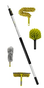 DocaPole 12' ft foot cleaning dusting kit set extension pole duster squeegee DocaPole by Docazoo