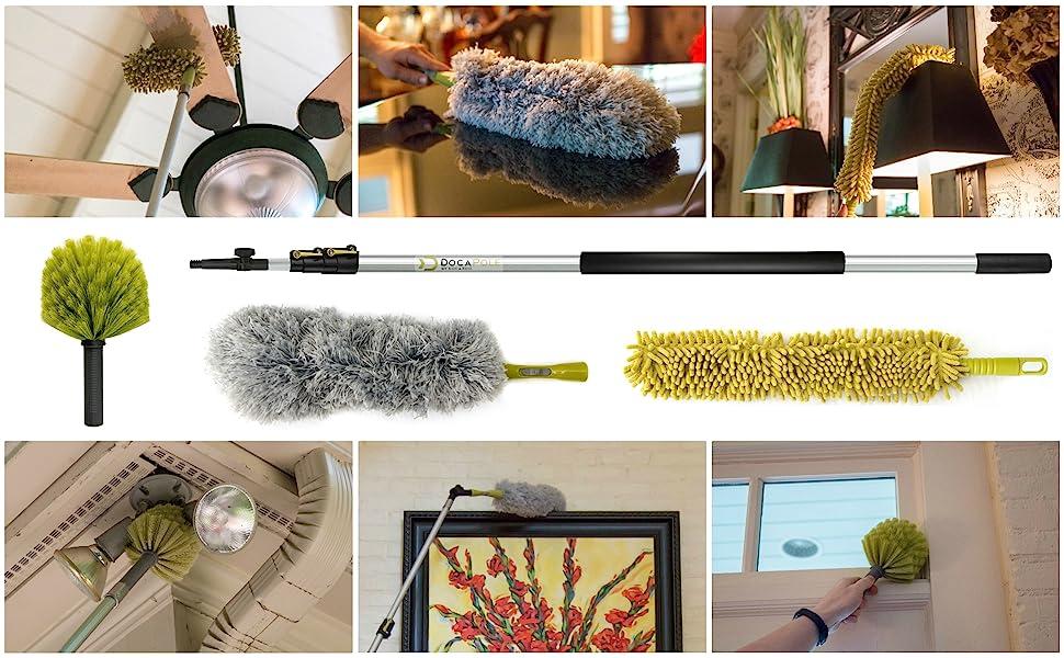12' DocaPole Dusting kit cobweb feather flexible attachments