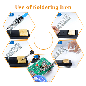 use of soldering iron