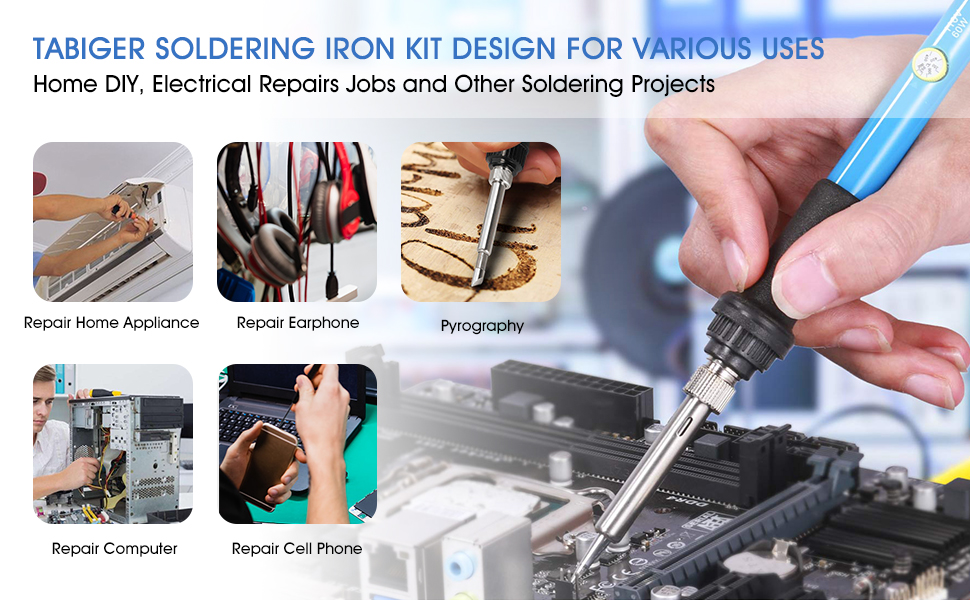 various uses for soldering iron kit