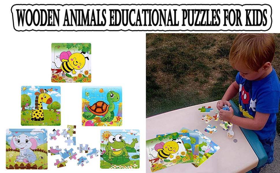 sealive Wooden Animals Educational Puzzles For Kids childrens puzzles age 2 4 baby kids pazzle