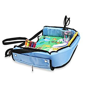 in comparison with other car travel trays for kids or even snack trays for kids this travel tray is bigger more comfortable has a stronger base