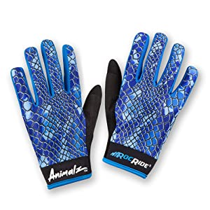 ROCRIDE ANIMALZ BLUE VIPER CYCLING GLOVES