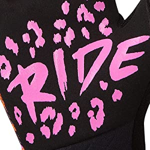 rocride animalz pink leopard cycling gloves