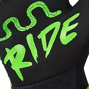 RocRide Animalz Green Viper Full Finger Cycling Gloves