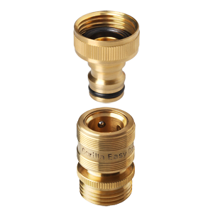 ¾ inch GHT Brass Easy Connect Fittings Garden Hose Quick Connector