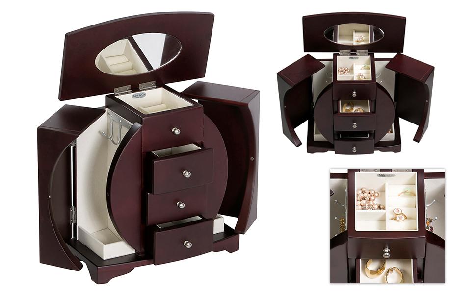 Amazon.com: Mele & Co. Simone Wooden Jewelry Box, Ring
