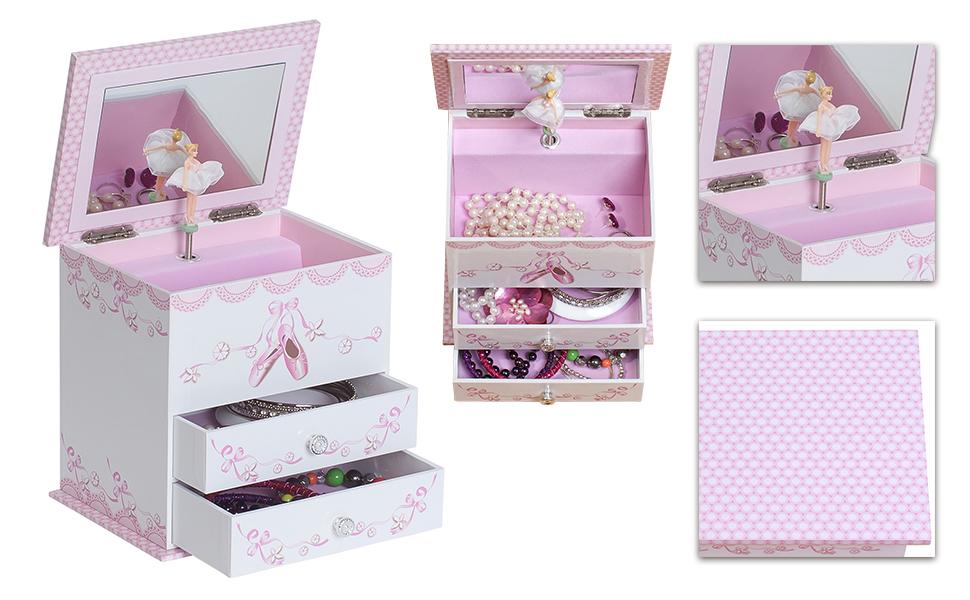 Amazoncom Mele Co Angel Girls Musical Ballerina Jewelry Box