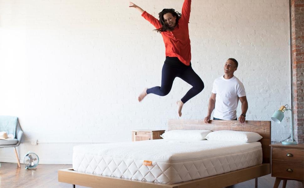 Happsy Natural Organic Mattress Jumping For Joy