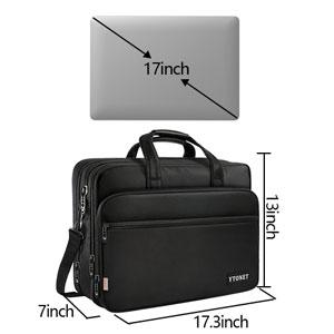 68225ceeda7b6e Amazon.com: 17 inch Laptop Bag, Travel Briefcase with Organizer ...