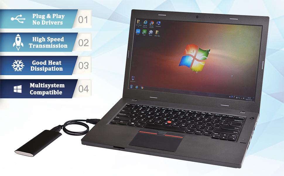 Amazon.com: M.2 SSD SATA a USB 3.0 Convertidor Adaptador ...