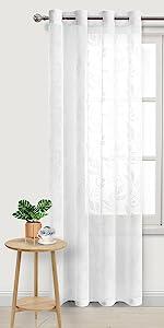 Burnout Sheer Curtains