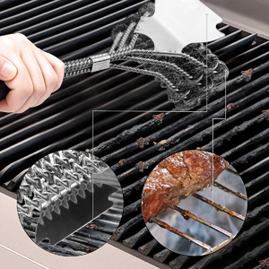 grill brushes best rated bristle free,webber grill brushes