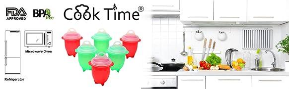 Amazon.com: Huevo cooker-silicone microondas COCEDOR para ...