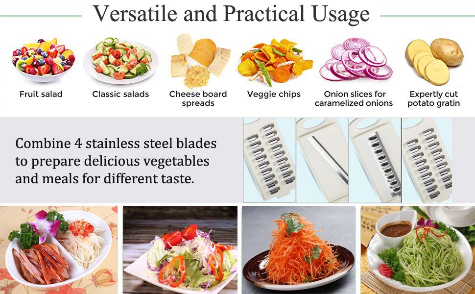 stainless steel blade,adjustable mandoline slicer,vegetable cutter