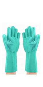silicone washing gloves