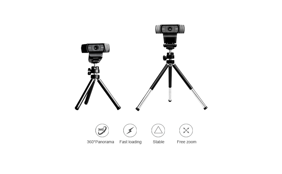 Lightweight Mini Webcam tripod for Logitech Webcam C920 C922