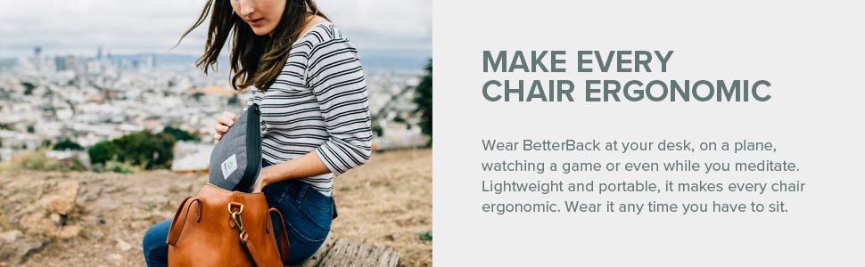 BetterBack - #1 Lower Back Support Posture Belt | As Seen On Shark Tank USA | Improves Posture & Eases Lower Back Pain While You Sit (Use For Just 15 ...