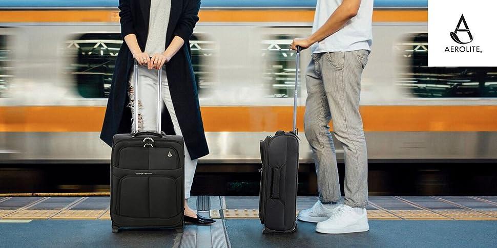 "5a61912e696f ... Aerolite 22x14x9  Aerolite 22x14x9"" Hard shell Suitcase Spinner Carry  ..."