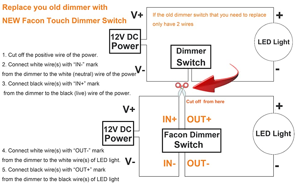 Dc Dimmer Switch Wiring Diagram | Wiring Diagram on