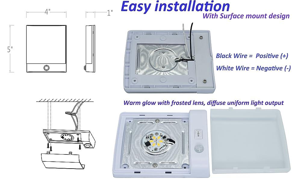 Amazon.com: Facon LED Sensor Puck Light Cabinet Light with
