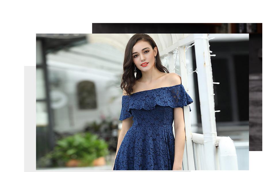 ruffle lace dress