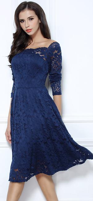 Amazon.com: MissMay Women's Vintage Floral Lace Long