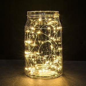 Amazon Com Sanniu Led Starry Fairy Lights Copper Wire