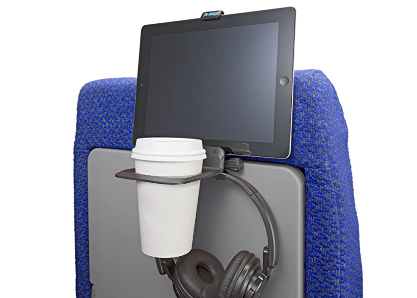 a4db1eef4b5dd The Airhook is a two-in-one solution for airplane travel  a stable drink  holder and a secure mount for an electronics device that attaches to the  tray table ...