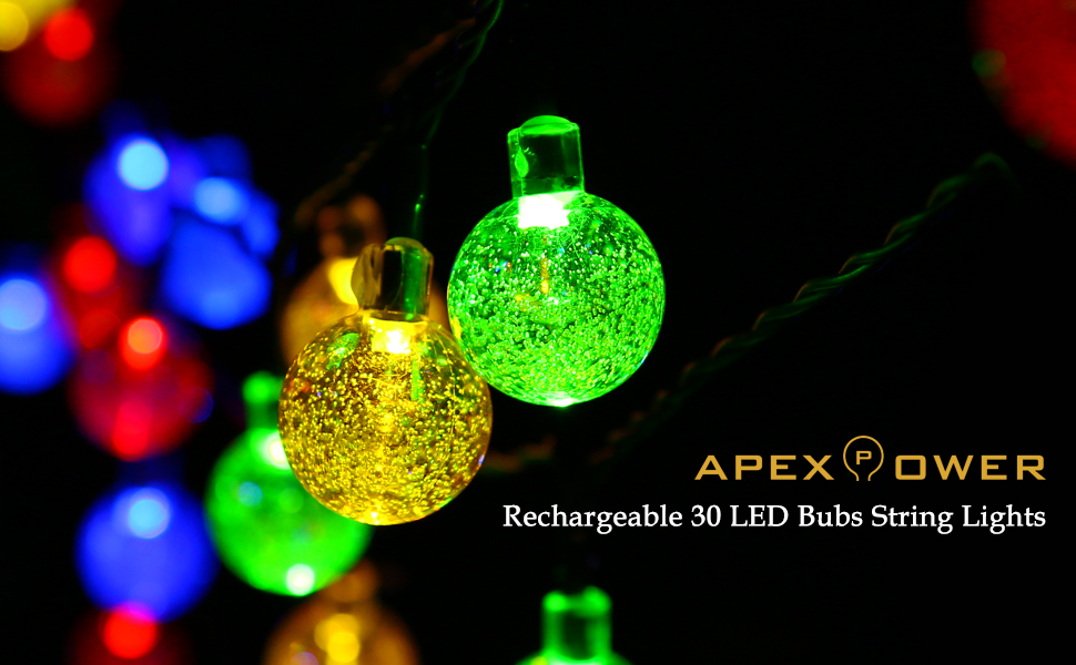 rechargeable battery string lights