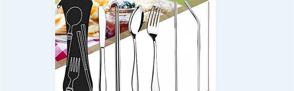 travel silverware set