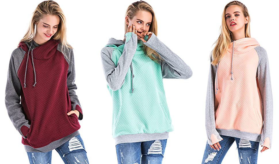 7bc526a55 St. Jubileens Women Hoodie Sweatshirt Long Sleeve Casual Pullover Tops With  Pockets