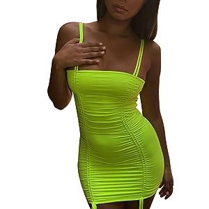 Neon Lime bodycon dress