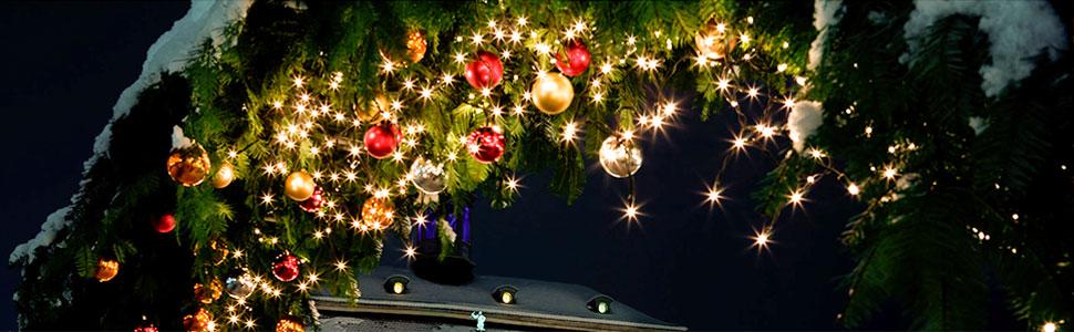 Outdoor String Lights - Amazon.com: Vmanoo Solar Christmas Lights, 72 Feet 22 Meter 200 LED