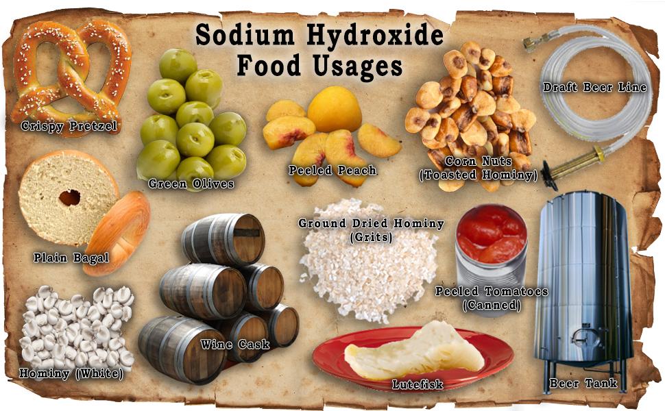 NaOH Food Uses